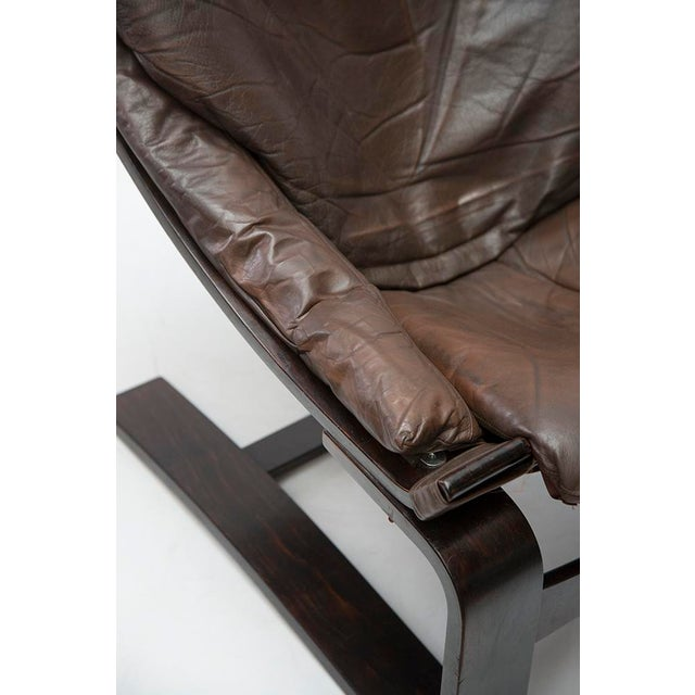 b7b7950d3 Brown Kroken De Lux Lounge Chair by Ake Fribytter For Sale - Image 8 of 10