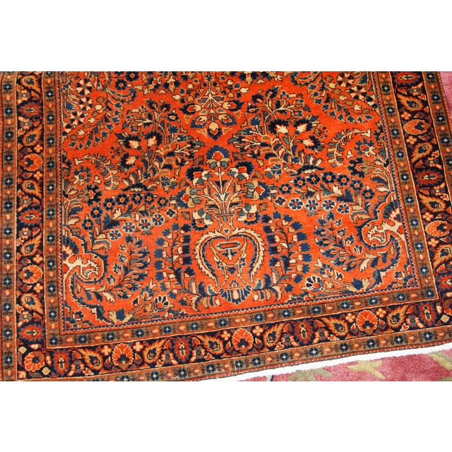 1920s, Handmade Antique Persian Sarouk Rug For Sale - Image 11 of 13