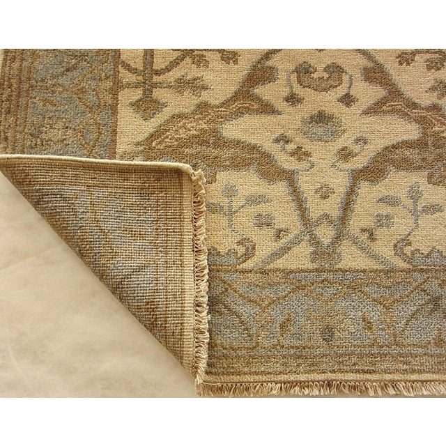 Indian Oushak Rug - 4′1″ × 5′10″ For Sale - Image 4 of 5