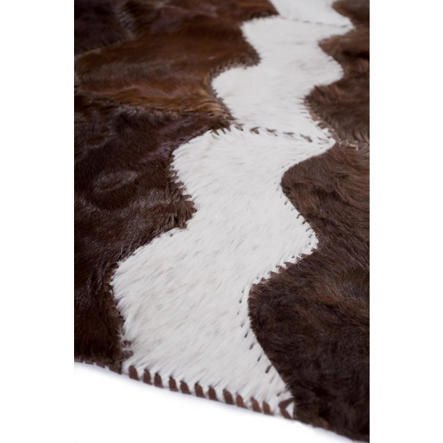 """Cowhide Patchwork Area Rug - 4' x 6'4"""" - Image 3 of 8"""