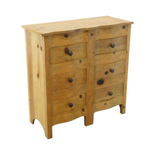Baker Milling Road Pine 6 Drawer Chest For Sale
