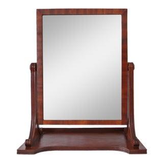 Late 19th Century Empire Style Mahogany Swivel Mirror For Sale