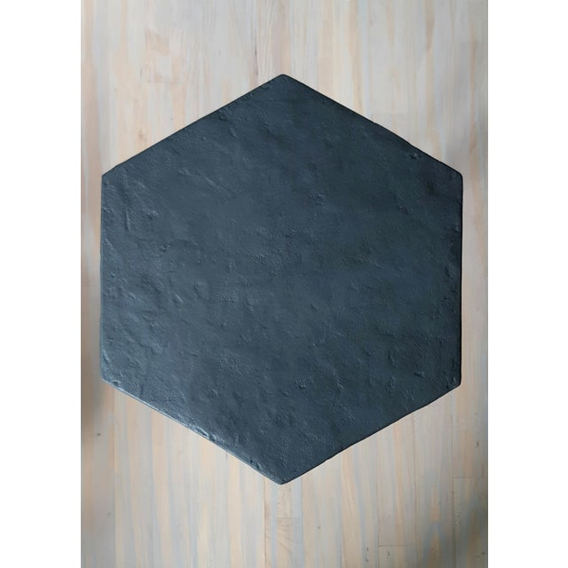 Modern Artisan Small Accent Table Black For Sale - Image 4 of 5