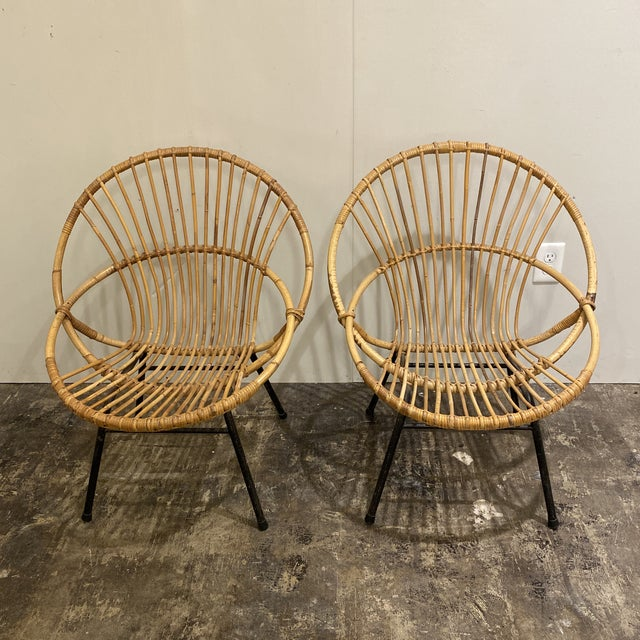 Mid Century Chairs - a Pair For Sale - Image 4 of 9