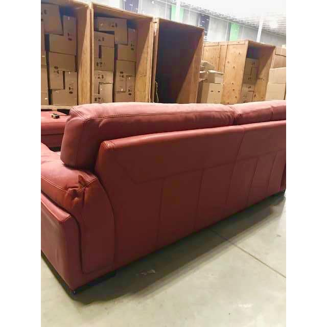 Mid-Century Modern Roche Bobois Tomato Red Sleeper Sofa For Sale - Image 3 of 11