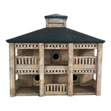 Image of Vintage Whitewashed Decorative Birdhouse For Sale