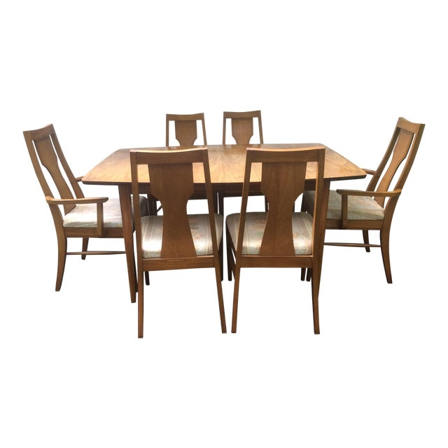 Kent Coffey Perspecta Series Dining Table & 6 Chairs Set - Image 1 of 11