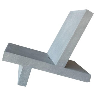 Cast Resin 'Wavebreaker' Lounge Chair, Gray Finish by Zachary A. Design For Sale