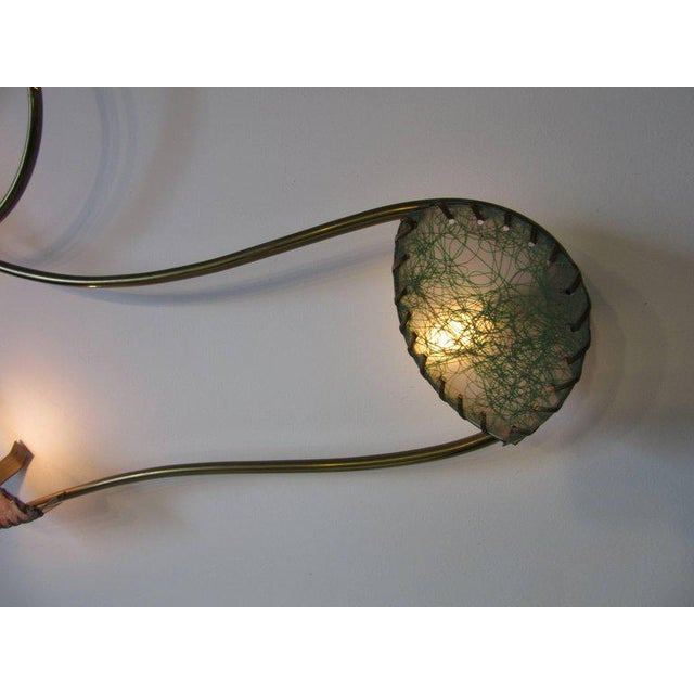 Rare Brass Sculptural Wall Light by Majestic For Sale In Cincinnati - Image 6 of 9