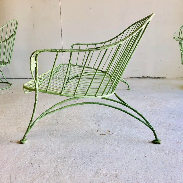 Fine Rare Vine Motif Midcentury Iron Patio Set 4 Pieces Chairish Gmtry Best Dining Table And Chair Ideas Images Gmtryco