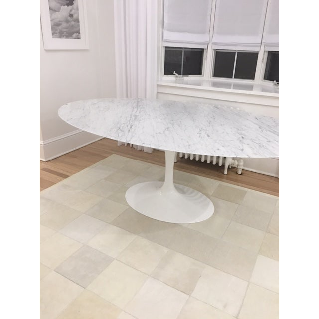 Knoll & Eero Saarinen White Dining Table - Image 3 of 11