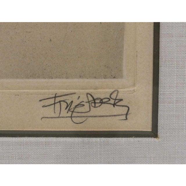 Johnny Friedlaender Framed Aquatint For Sale - Image 4 of 5