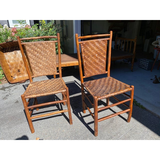 Old Hickory Dining Chairs - a Pair For Sale - Image 9 of 9