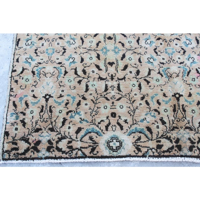 Handmade Anatolian Oushak Wool Rug - 4′4″ × 7′1″ For Sale - Image 5 of 6