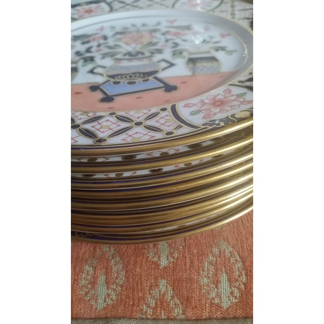 1936 Royal Crown Derby for Tiffany Imari Luncheon Plates - Set of 10 For Sale In New York - Image 6 of 8