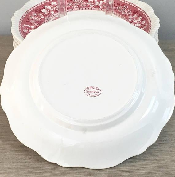 Spode Tower Red Dinner Plates - Set of 12 - Image 7 of 11  sc 1 st  Chairish & Spode Tower Red Dinner Plates - Set of 12 | Chairish