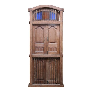 Early 19th Century Vintage Teak Wood Window For Sale