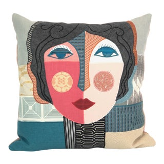 Hand Appliqued Custom Lady Pillow For Sale