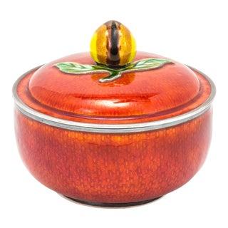 Box, Enamel Sterling Silver Bowl For Sale