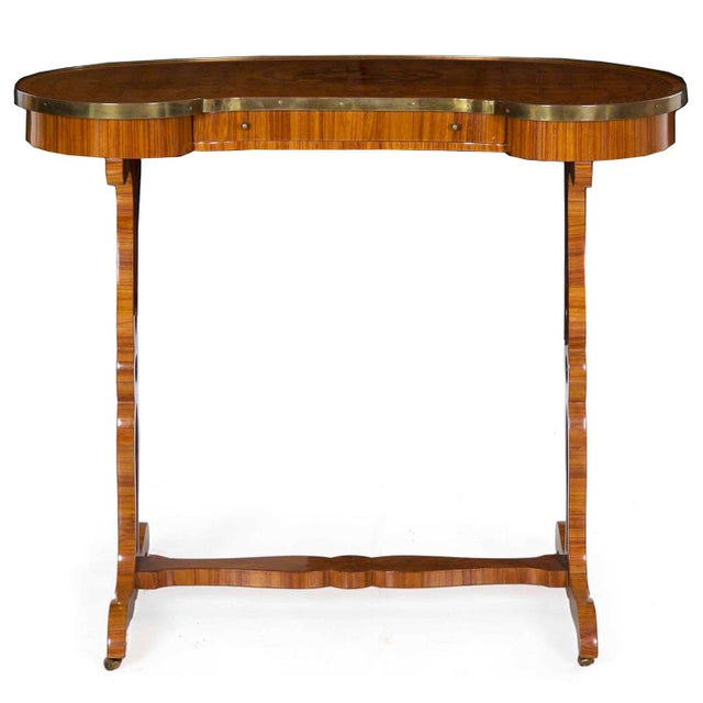 French 19th Century French Louis XVI Kingwood Antique Writing Table Console For Sale - Image 3 of 13