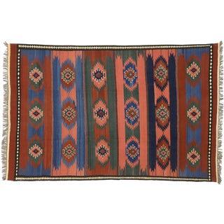 Vintage Afghani Kilim Rug With Southwestern Navajo Style - 06'04 X 10'00 For Sale