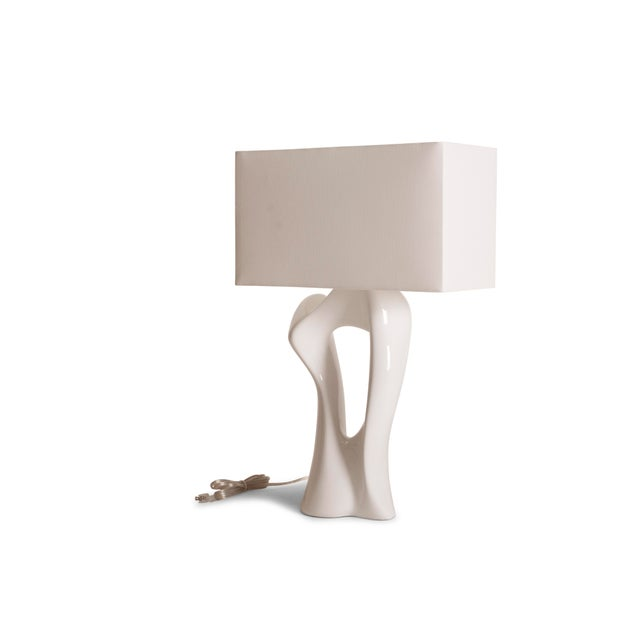 Not Yet Made - Made To Order Amorph Vesta White Lacquered Table Lamp For Sale - Image 5 of 10