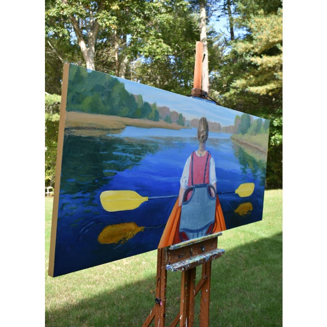 """""""The Journey"""". Large (32"""" X 80"""") Contemporary Painting by Stephen Remick For Sale - Image 10 of 13"""