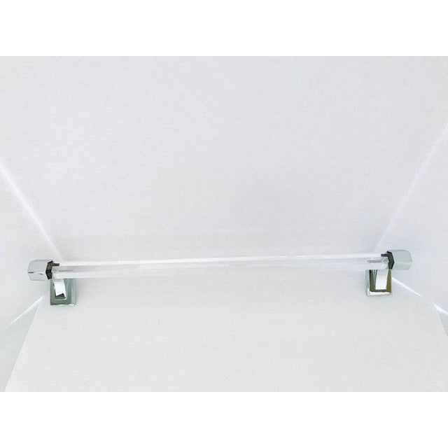 Vintage Faceted Glass and Nickel Towel Holder For Sale - Image 12 of 13