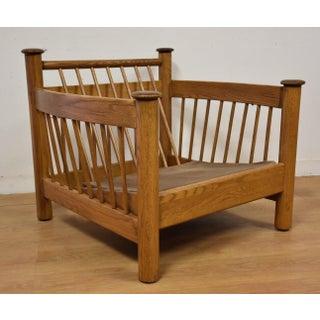 Modern Oak Lounge Chair Preview
