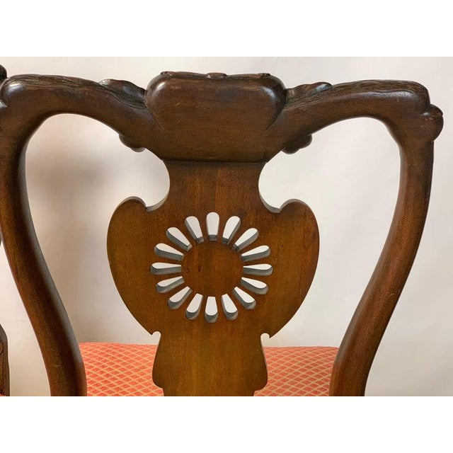 Wood Mid-19th Century Chippendale Style Carved Mahogany Side Chairs For Sale - Image 7 of 13