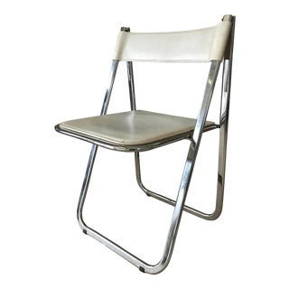 Vintage Italian Chrome Chair by Arrben For Sale