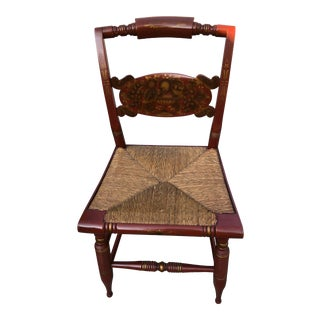Vintage Mid-Century L. Hitchcock Turtle Back Chair For Sale