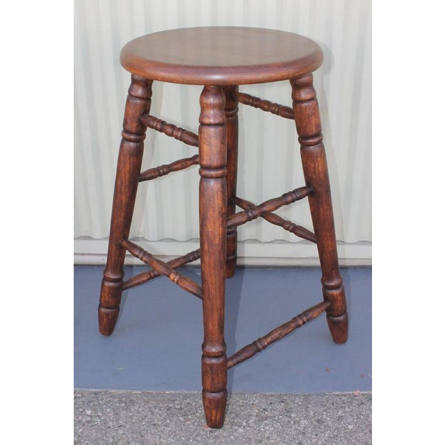 Set of Four Matching Bar Stools For Sale In Los Angeles - Image 6 of 10