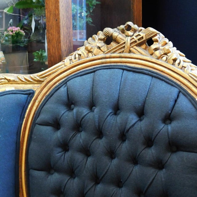 Wood 1900s Baroque Tufted Chair For Sale - Image 7 of 8