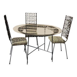 Vintage Mid Century Arthur Umanoff Patio Dining Set- 4 Pieces For Sale