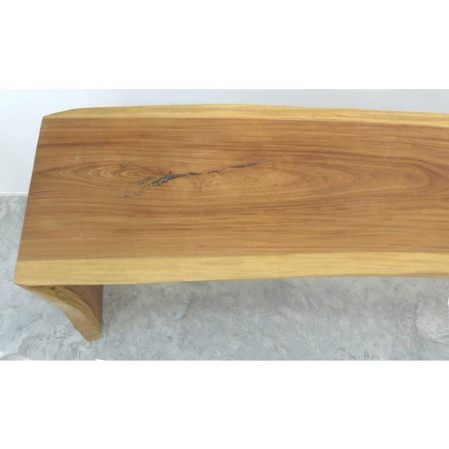Wood Guarapa Wood Console Table by Brazilian Contemporary Artist Valeria Totti For Sale - Image 7 of 11