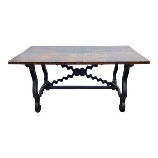 17th Century Italian Baroque Trestle Table For Sale