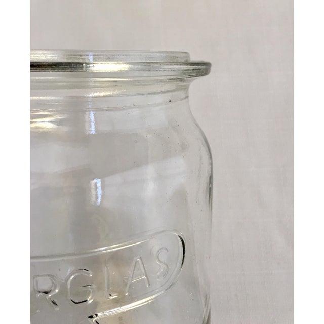 Transparent Vintage German Ruhrglass Fruit Jars - Set of 4 For Sale - Image 8 of 10