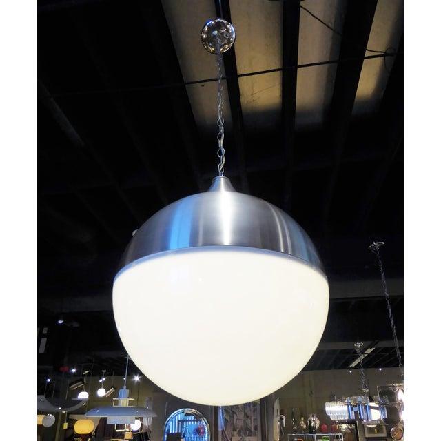 1960s Danish Modern Aluminun & Acrylic Teardrop Shaped Globe For Sale - Image 4 of 13