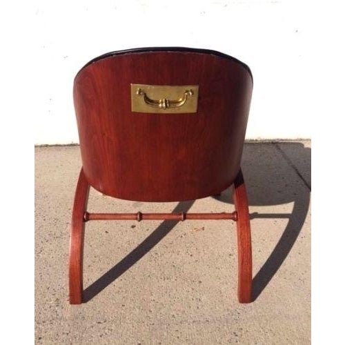 On Hold Mid Century Regency-Style Bentwood Campaign Chair - Image 4 of 6