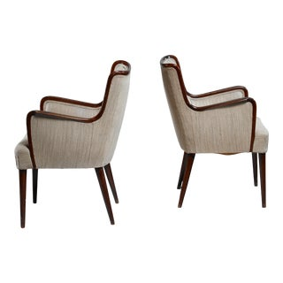 Osvaldo Borsani Pair of Rare Side Chairs, Italy, 1940s For Sale