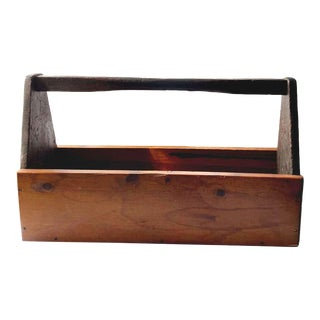 Late 20th Century Wooden Tool Box For Sale