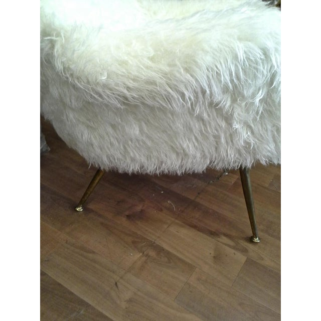 Fritz Neth Pair of Comfy Lounge Chairs Newly Covered in Sheep Skin Fur For Sale - Image 6 of 9