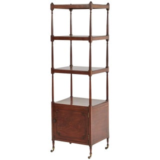 1830s English Mahogany Four-Tiered Shelf For Sale