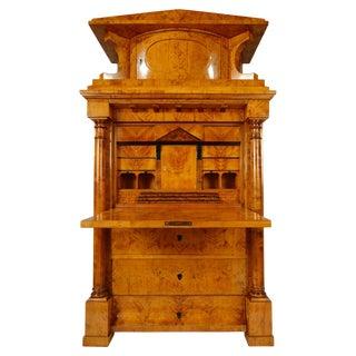 Antique Biedermeier Secretary Desk Circa 1825 For Sale