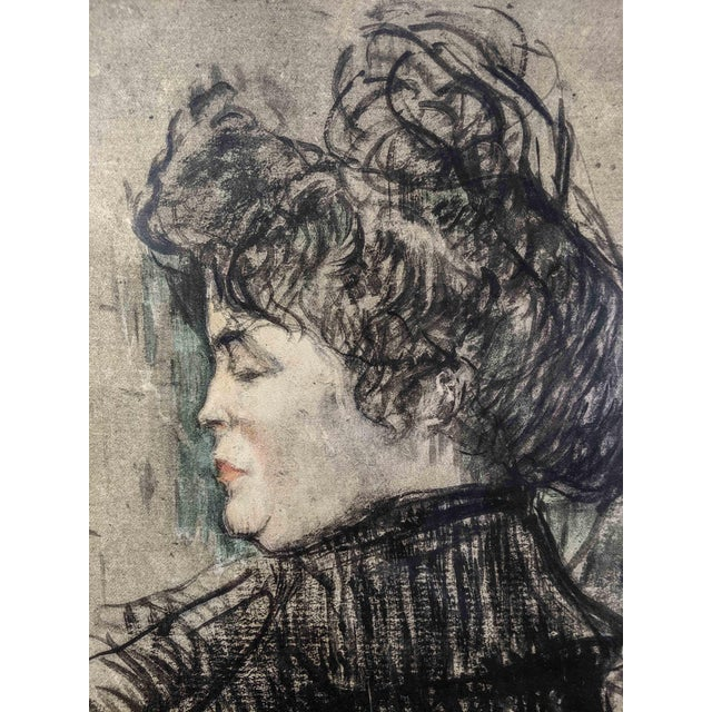 French Women Portrait Prints of 19th Century Artworks by Painter and Artist, Henri De Toulouse-Lautrec. Lot of 4 For Sale - Image 11 of 13