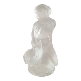 Lalique Nude With Swan Figurine For Sale