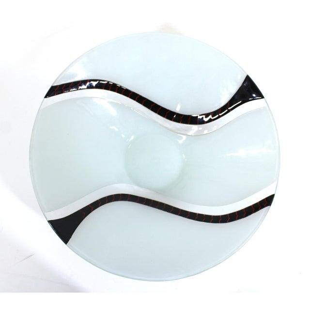 Richard Knopf Postmodern Glass Charger Plate For Sale - Image 10 of 10
