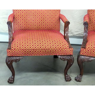 Vintage Mid Century Georgian Style Lolling Chairs- A Pair Preview