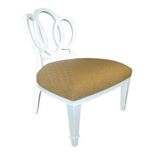 Henredon Furniture Barbara Barry Lacquered Ivory Bracelet Chair For Sale